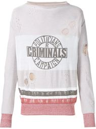 'Criminals' jumper Vivienne Westwood Gold Label