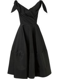 расклешенное платье с открытыми плечами Christian Siriano