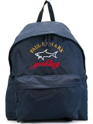 two tone logo backpack Paul & Shark