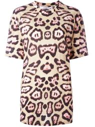 футболка с леопардовым принтом   Givenchy