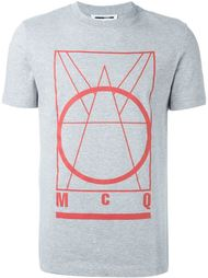 футболка с принтом 'Glyph Logo' McQ Alexander McQueen