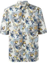 рубашка с абстактным принтом MSGM
