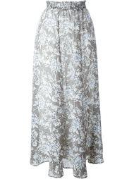 длинная юбка с цветочным принтом Twin-Set