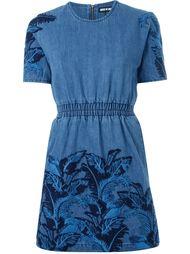 джинсовое платье с кружевной отделкой House Of Holland