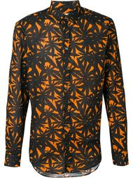 рубашка с лиственным принтом  MSGM
