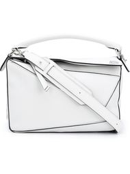 сумка на плечо с контрастными швами Loewe