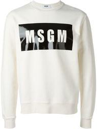 толстовка с логотипом MSGM