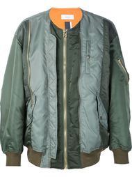 куртка-бомбер с панельным дизайном Facetasm