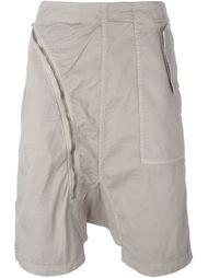 шорты с асимметричной застежкой-молнией Rick Owens DRKSHDW