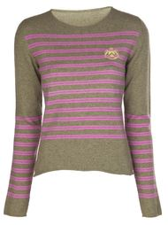 prep stripe embroidered sweater Lucien Pellat Finet
