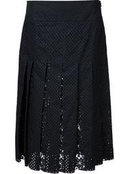 плиссированная юбка с перфорацией звезд Nº21