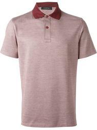 футболка-поло с контрастным воротником  Ermenegildo Zegna