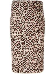 юбка-карандаш с леопардовым принтом Givenchy
