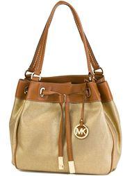 большая сумка-мешок с логотипом  Michael Michael Kors