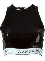 виниловый укороченный топ Wanda Nylon