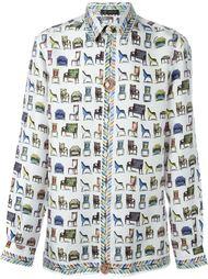 классическая рубашка 'Sedie Print'  Versace