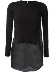 ribbed knit layered jumper T By Alexander Wang
