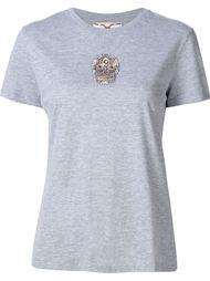 футболка с черепом из бисера Figue
