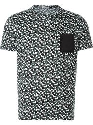 футболка с геометрическим принтом Moncler