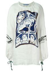 платье-кимоно с принтом  Claire Barrow