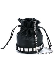 Lucile Mini Leather Bucket Bag Tomasini
