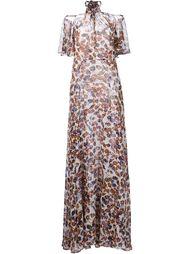 длинное платье с открытыми плечами Derek Lam