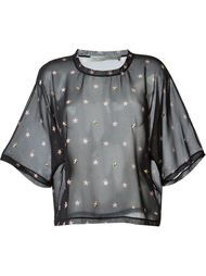 прозрачная блузка с принтом  Francesco Scognamiglio