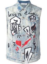 джинсовая куртка без рукавов  Faith Connexion