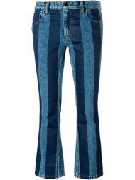 полосатые укороченные джинсы Alexander Wang