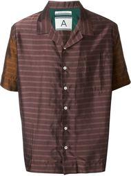 полосатая рубашка с короткими рукавами Andrea Pompilio