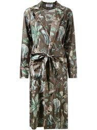 пальто с принтом и поясом  Muveil