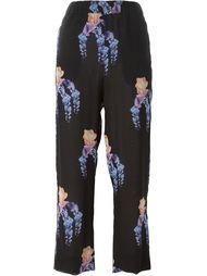floral print trousers Francesco Scognamiglio