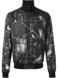 куртка с принтом сов Dolce & Gabbana