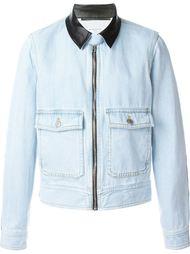 джинсовая куртка с кожаной отделкой Givenchy