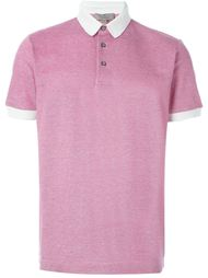 футболка-поло с контрастным воротником   Canali