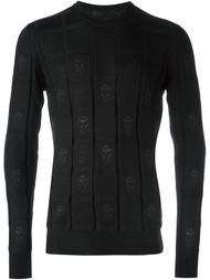 свитер с принтом черепов Alexander McQueen