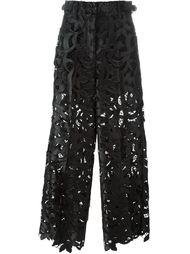 широкие кружевные брюки Sacai