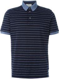 футболка-поло с контрастной окантовкой  Canali