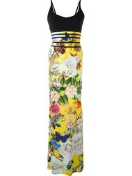 вечернее платье с принтом  Roberto Cavalli