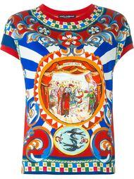 футболка с принтом 'Carretto Siciliano' Dolce & Gabbana