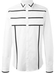 рубашка с контрастными полосками   Les Hommes