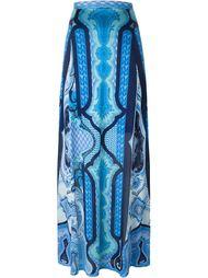 длинная юбка с орнаментом арабеск Etro