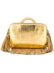 fringed metallic tote  The Volon