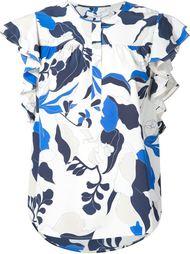 floral print ruffle sleeve top Derek Lam 10 Crosby