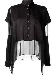 полупрозрачная многослойная блузка  Maison Margiela