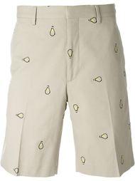 шорты с вышивкой в виде ламп Fendi
