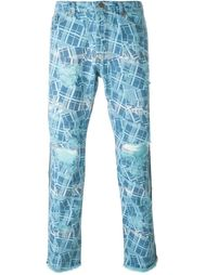 джинсы с принтом  James Long