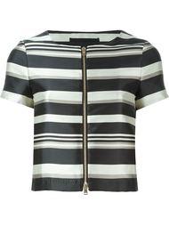 полосатый пиджак с короткими рукавами Herno