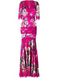платье в пол с цветочным мотивом Dolce & Gabbana