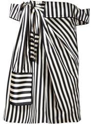 полосатое платье с открытыми плечами Monse